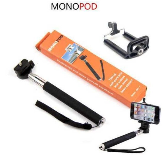 Monopod pocket size+smart phone holder+ bluetooth shutter