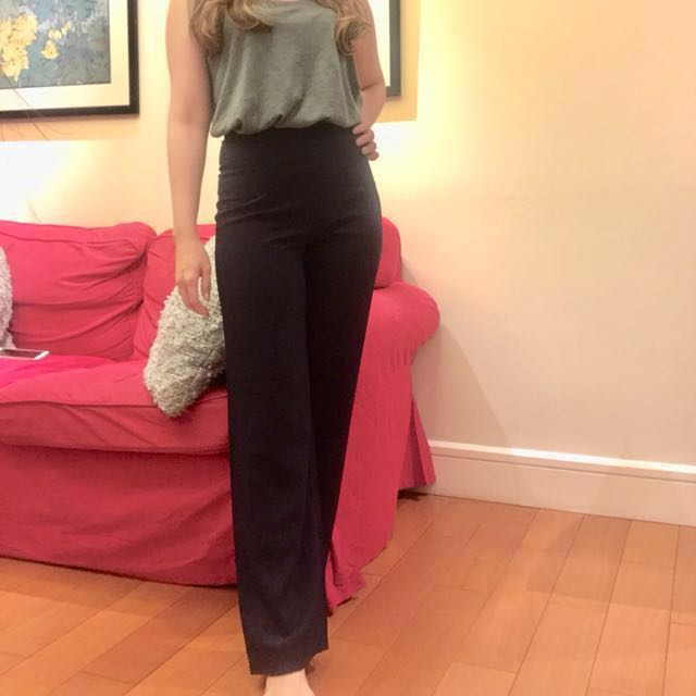 Navy Blue Wide Pants - High Quality