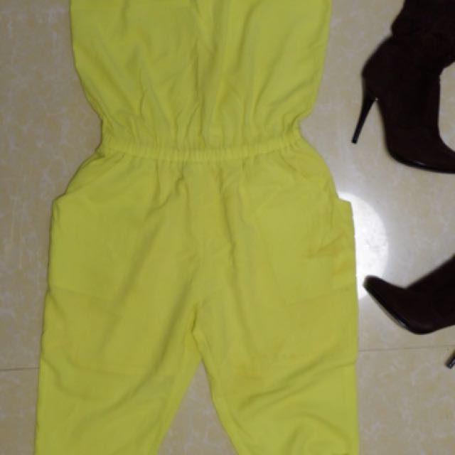 Neon yellow green jumpsuit