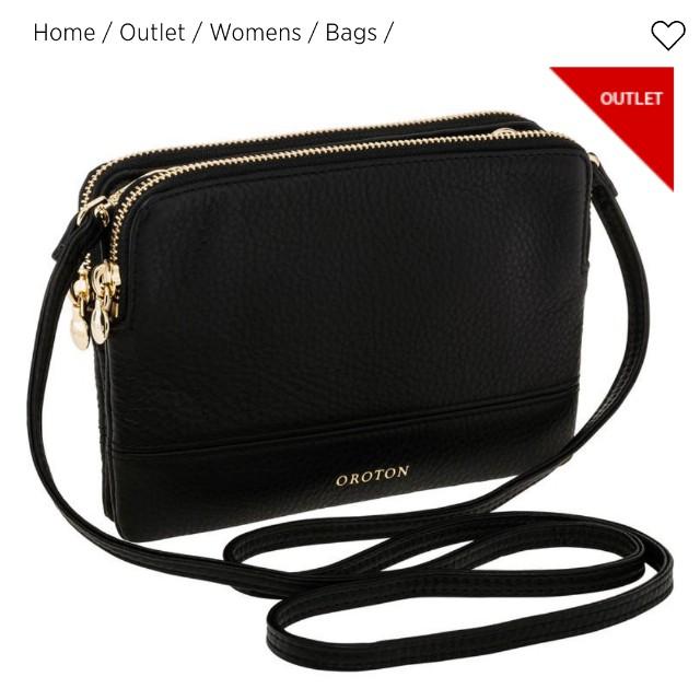 Oroton Leather Bueno Double Clutch Black Women S Fashion Bags Wallets On Carou