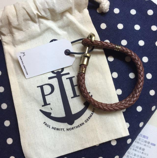 【PAUL HEWITT】 皮革船錨手環 (尺寸:M) 正品非仿貨