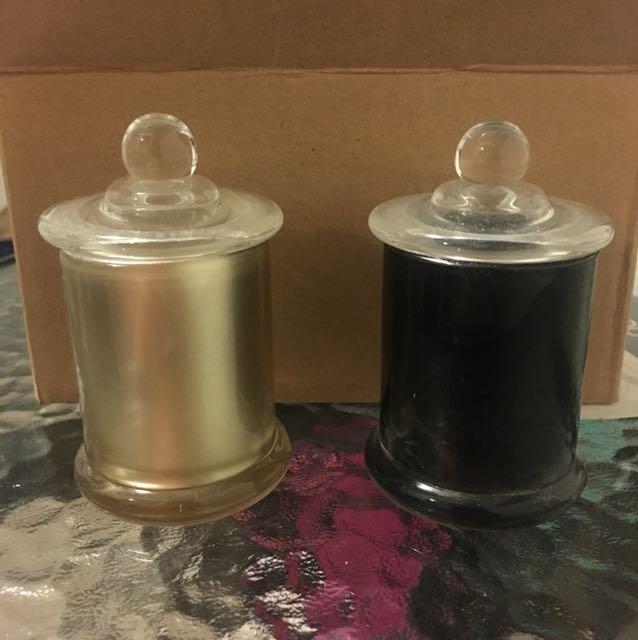 Petite ball candle jars