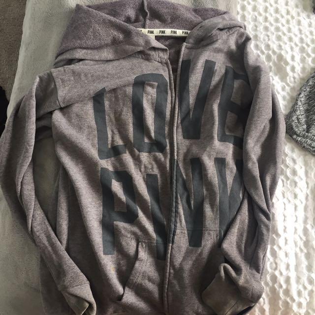 PINK grey jumper