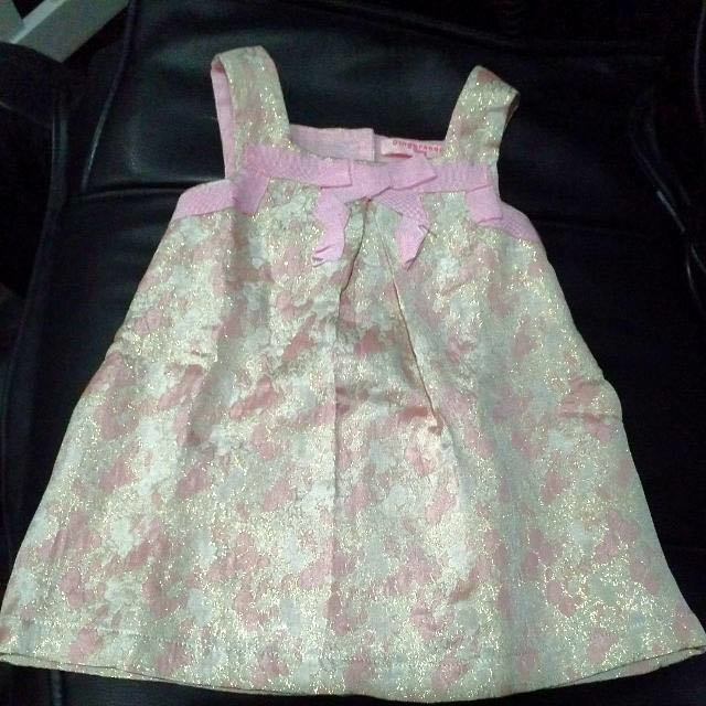 Pink Shiny, Floral Dress From Gingersnaps