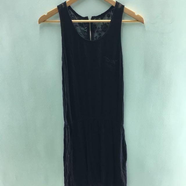 Plain and prints short dress