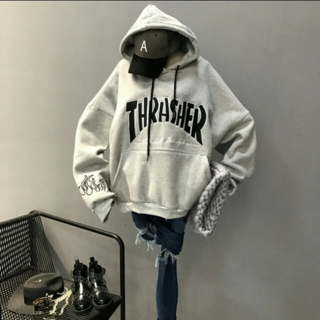 4a8c8f58c82c9f po] unisex thrasher magazine inspired oversized hoodie tumblr ...