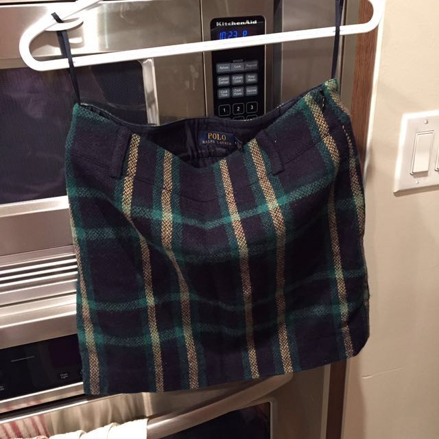 Polo Ralph Lauren wool mini skirt