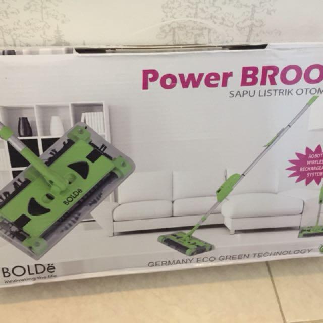 Power broom sapu listrik