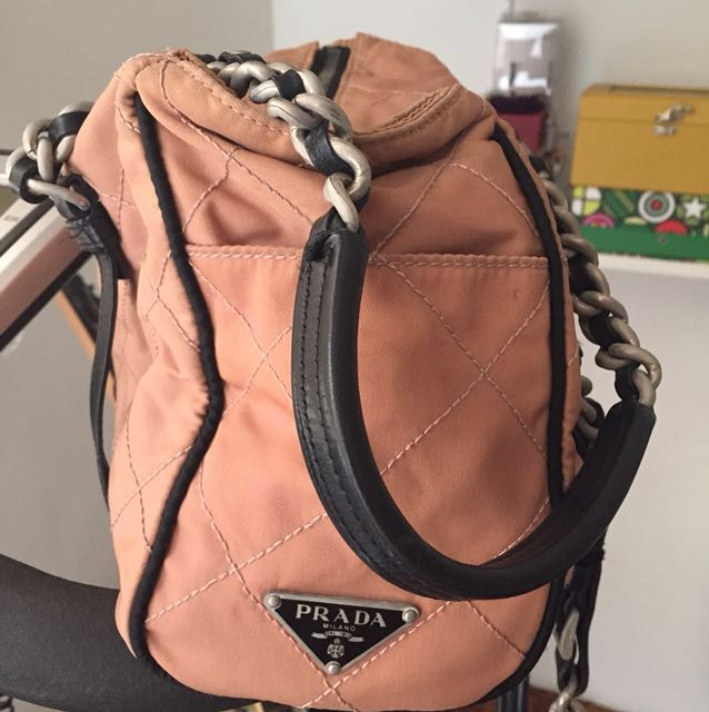 Prada Quilted Chain Tote