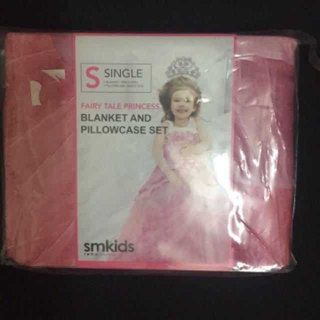 ptincess single blanket and pillowcase