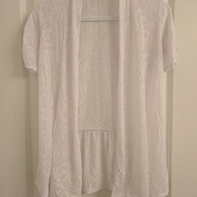 Reitman white cardigan