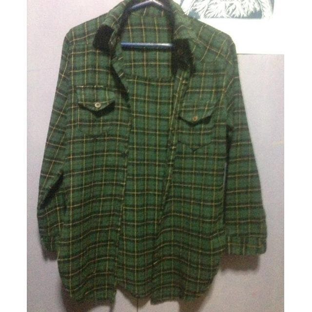 REPRICED Green Plaid Top