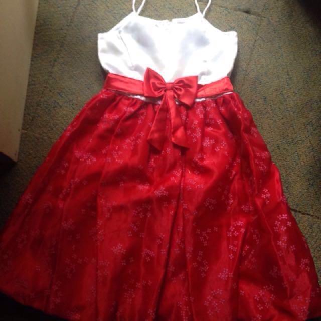 Repriced Preloved Semi Formal Red Dress Babies Kids Girls