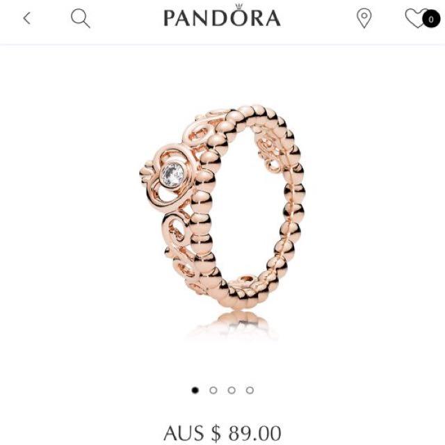 RRP $89! Genuine Rose Gold Tiara Pandora Ring