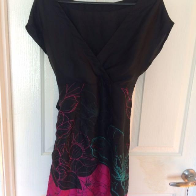 Size 10 Black Floral dress