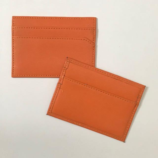 Small Card Wallet - Orange