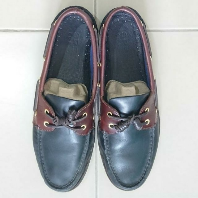 Sperry Boat Shoes Black Amaretto US 12 Mens