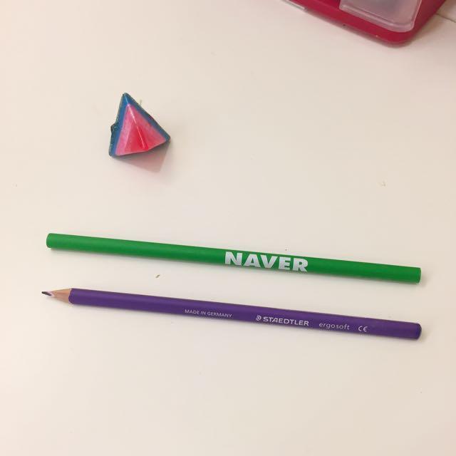 德國STAEDTLER紫色鉛筆 + NAVER鉛筆