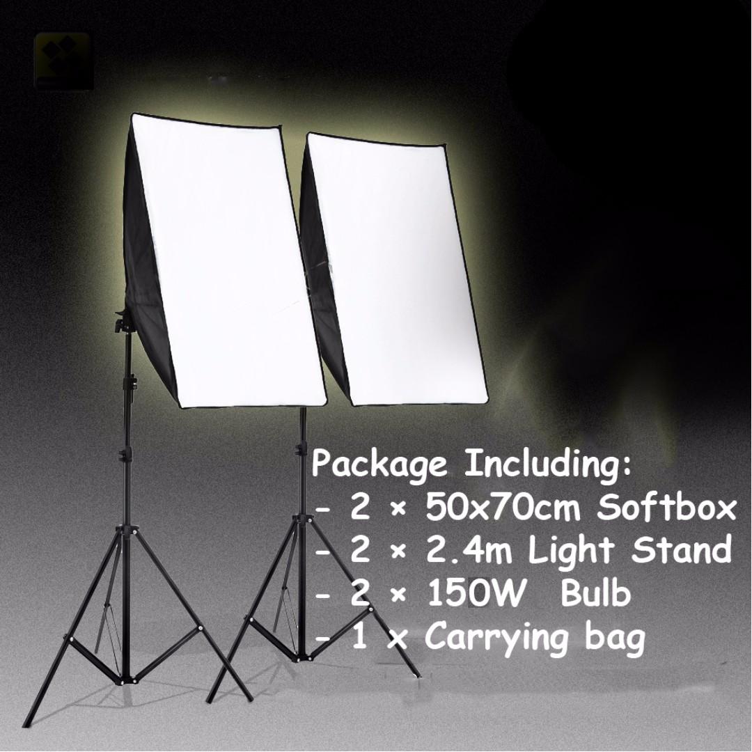 Studio lighting 50*70cm softbox kit