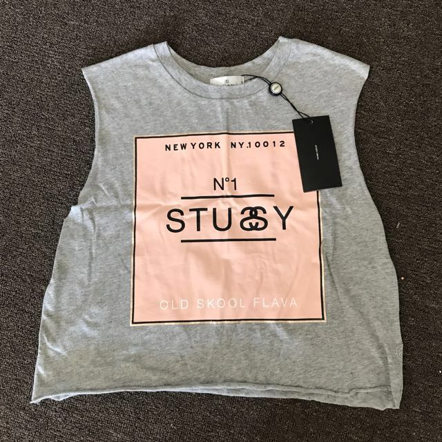 STUSSY Flava Crop Muscle Size 8