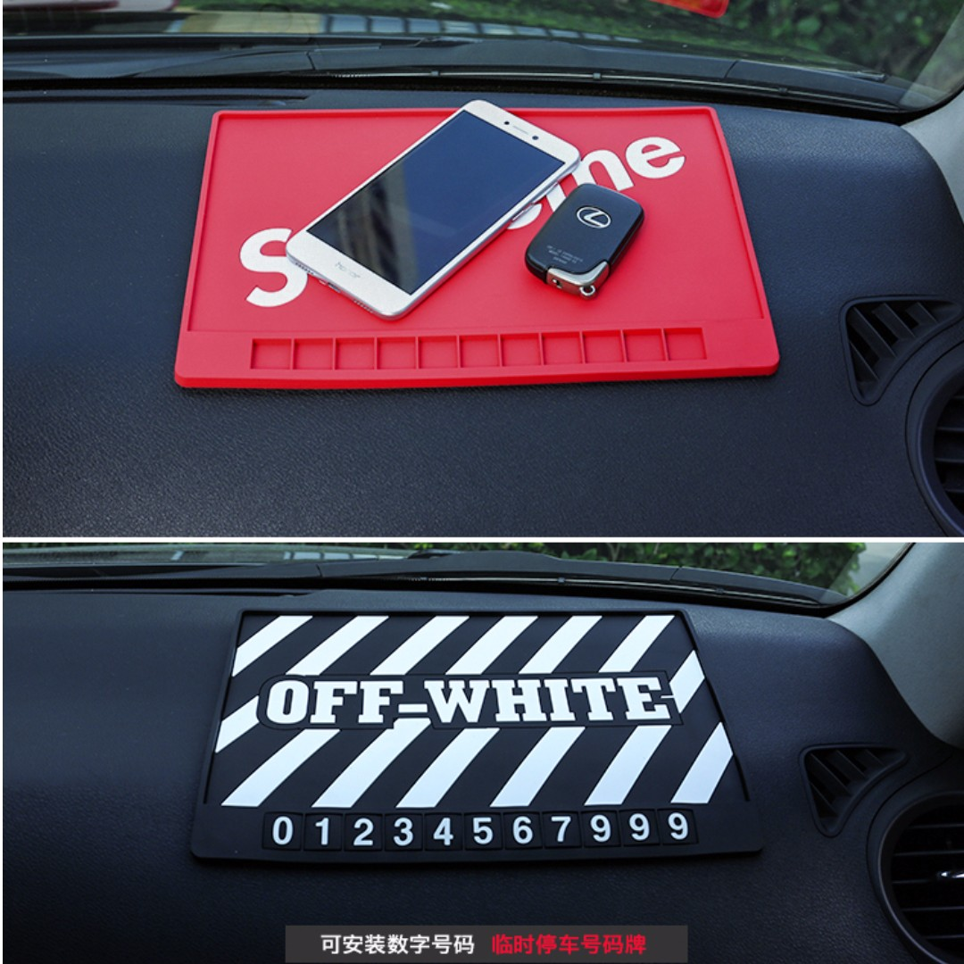 Supreme / Off White Anti- Slip Mat, Car Accessories on Carousell