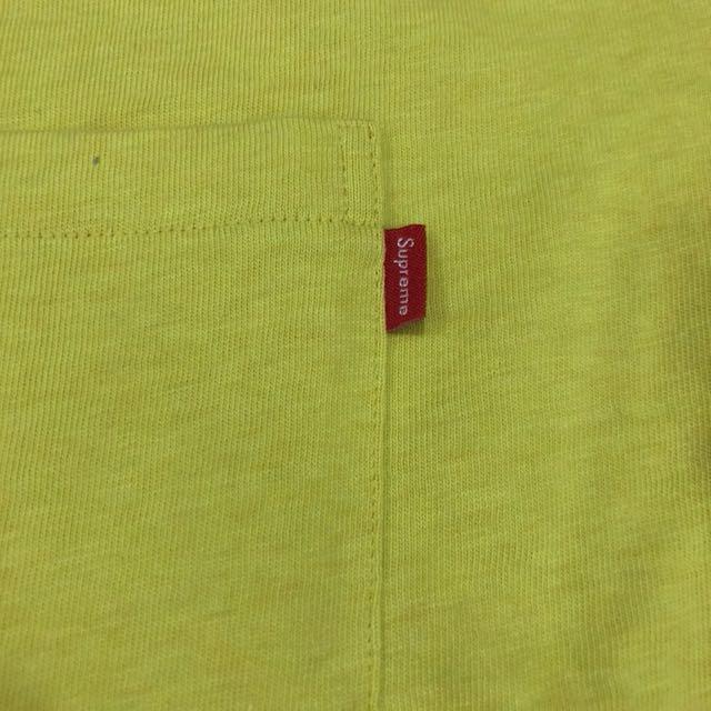 Supreme FW17 L/S Pocket Tee Heather Yellow