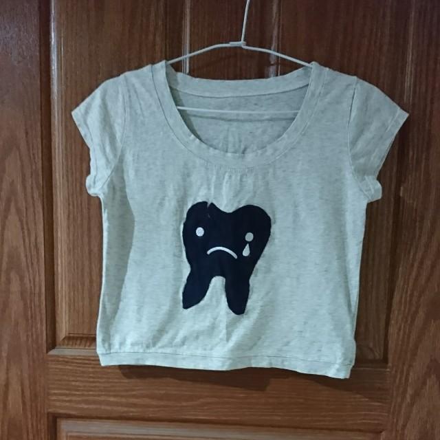 牙齒短版T恤