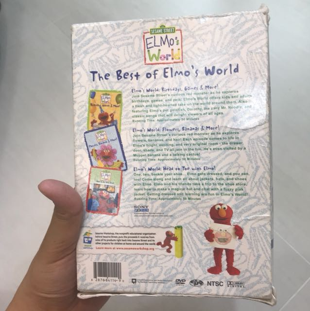 The Best Of Elmo S World 3 Disc Dvd Collection Music