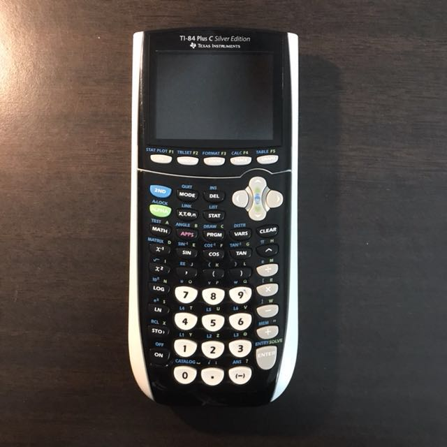 TI-84 Plus C Silver Edition Texas Instrument Graphing Calculator