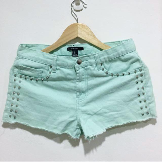 Tiffany綠 Forever21 短褲