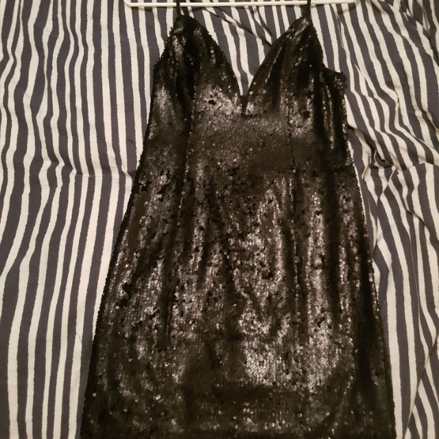 Tigermist Black sequin dress size L
