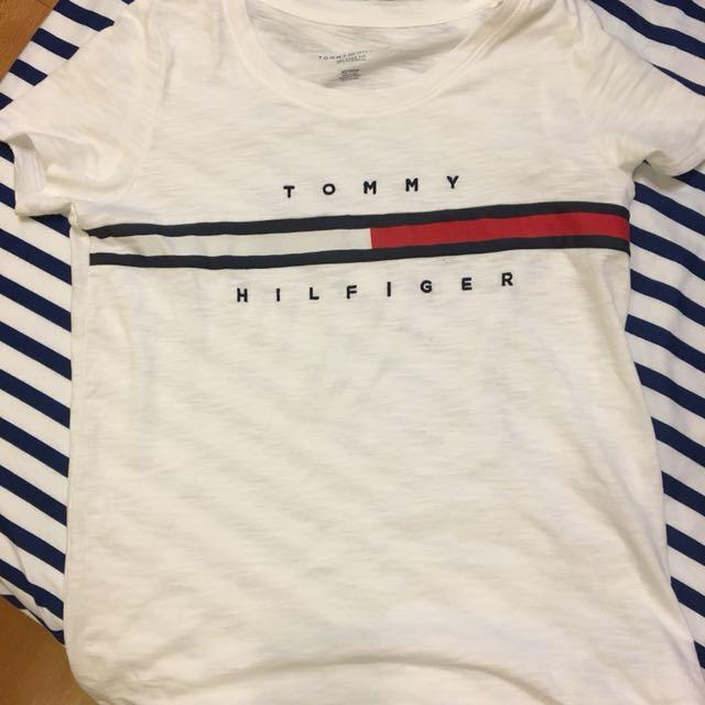 Tommy Hilfiger logo T-shirt 白色