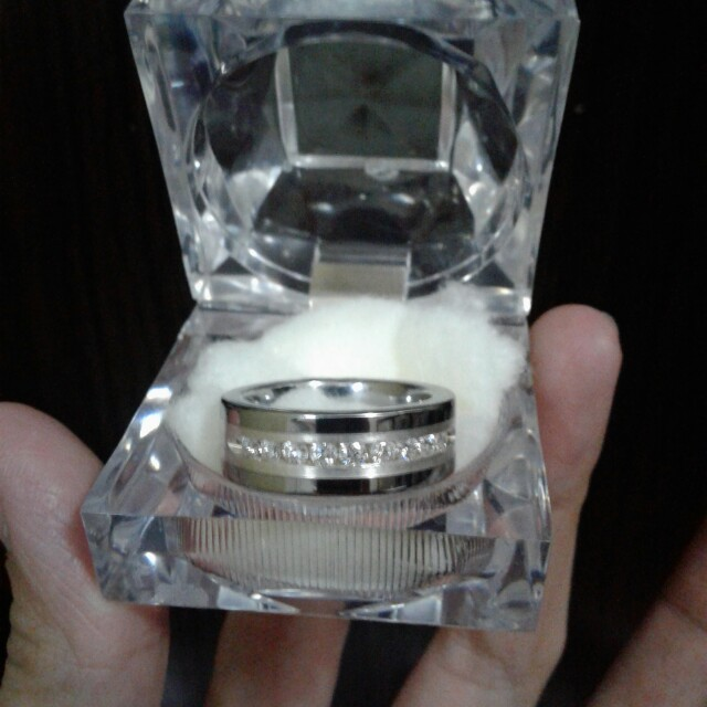Tungsten Carbide Diamond Ring