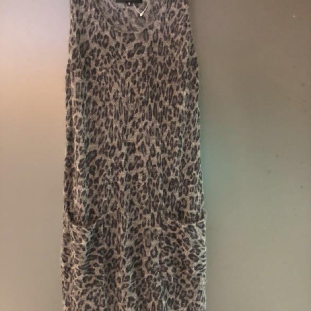 全新日本Untitled豹紋洋裝
