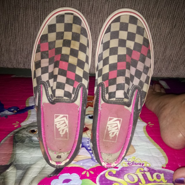 Vans checkered sneakers pink
