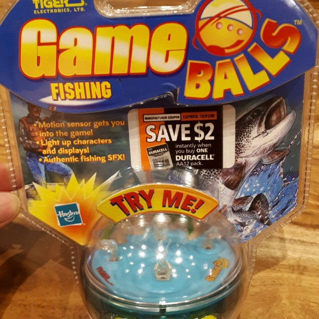 Vintage Game Balls fishing Tiger electronics