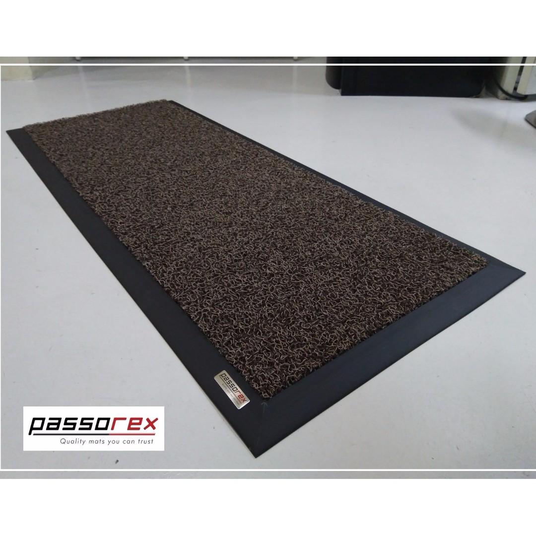 Waterproof Coil Floor Mat W Rubber Edge