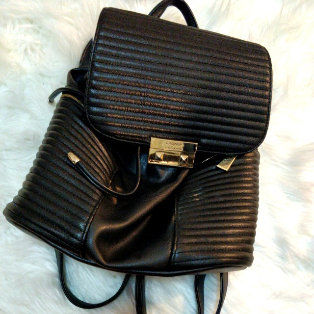 WAYNE COOPER Faux Leather Backpack