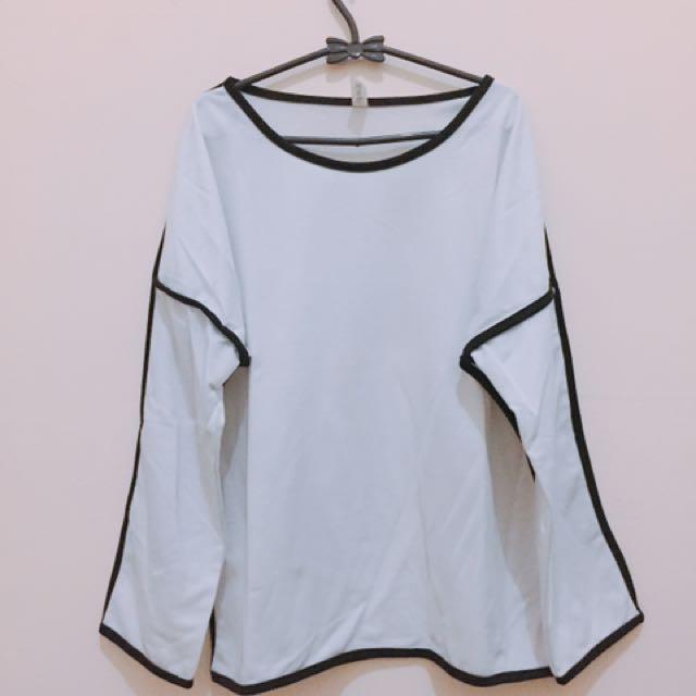 White black top