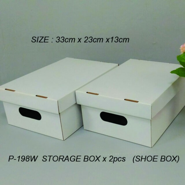 White color storage box 2pcs/Set