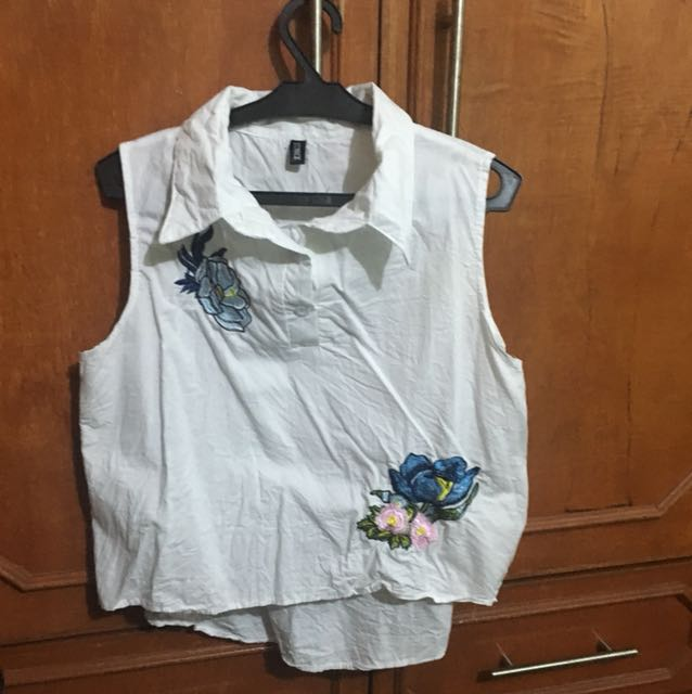 White sleeveless blouse from bangkok