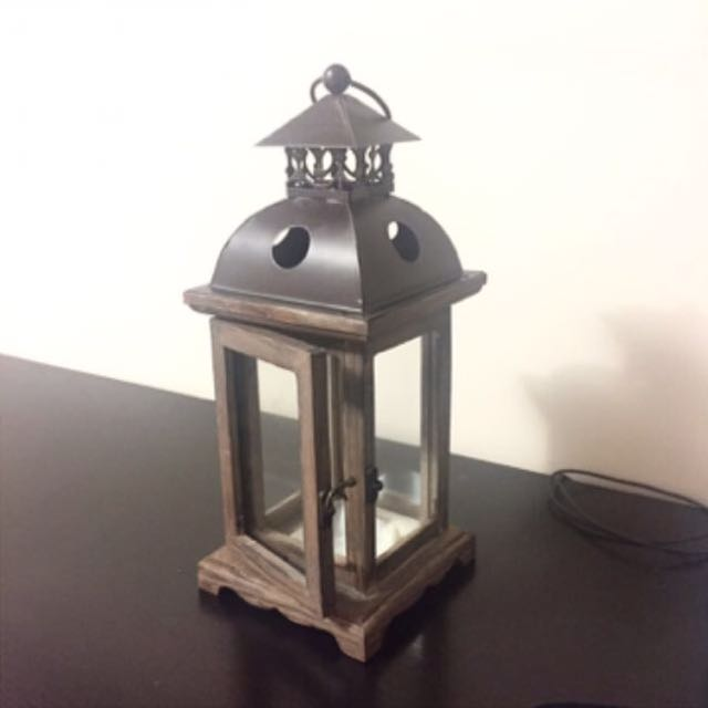 Wooden Candle Holder / Lantern