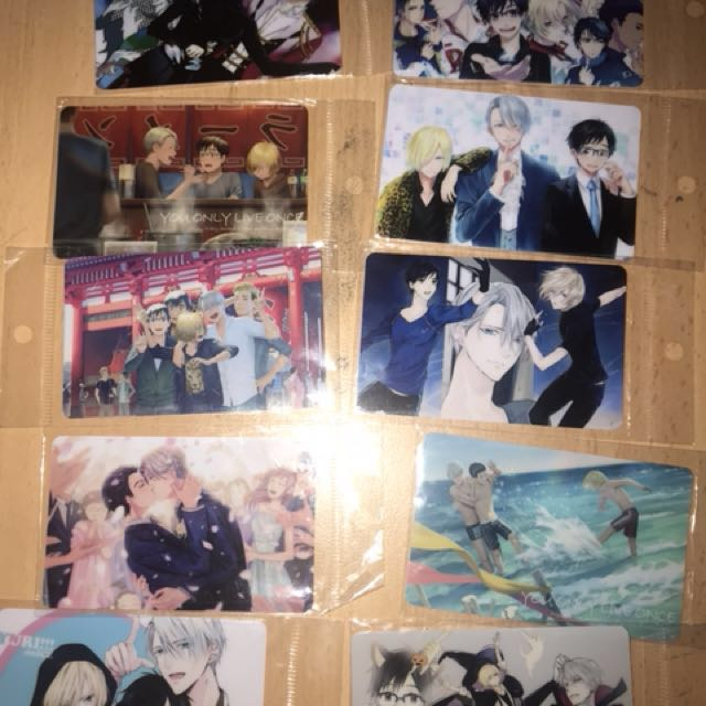 Yuri on ice 10 Cards set