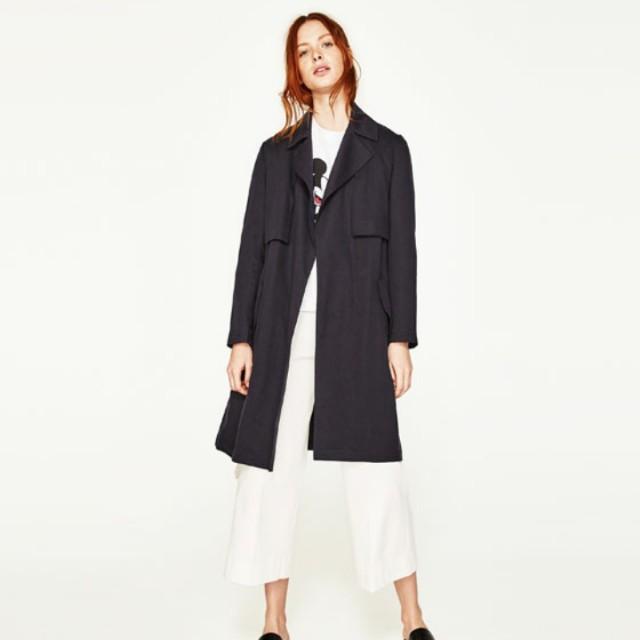 Zara Basic Flowing Trench Coat
