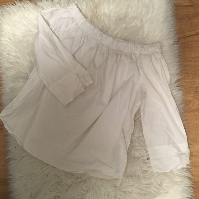 Zara ots white top