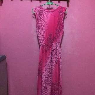 Lose sleeve long dress