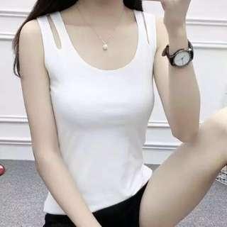 🚚 (全新)時尚雙層純棉背心