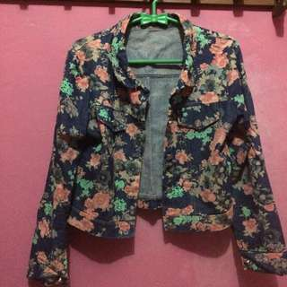 Jeans outer flower