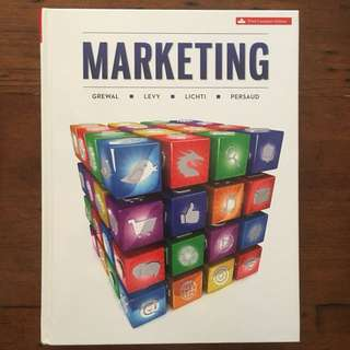 Marketing Textbook - Third Edition Canadian