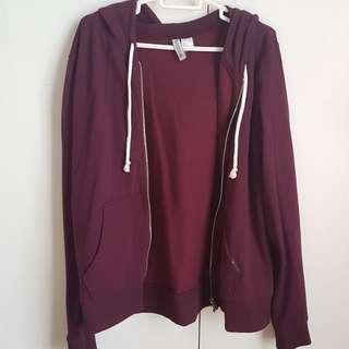 H&M maroon hoodie